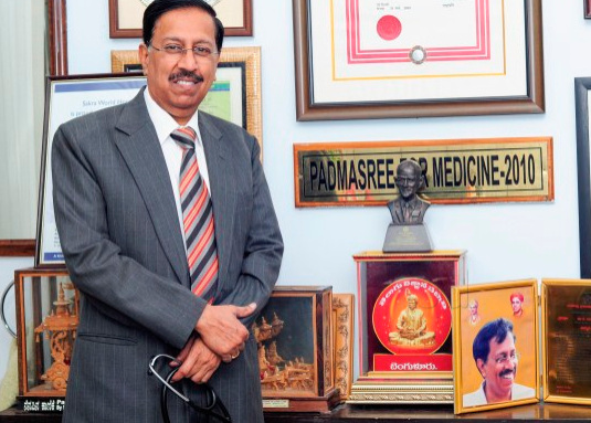 Dr. Ramana rao honored with Padma Shri award for medicine in 2010.
