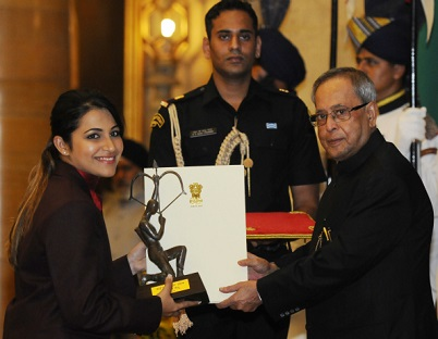Heena Sidhu was awarded the prestigious Arjuna Award by the President of India.