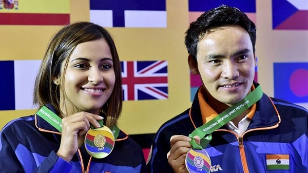 Sidhu won a silver in the women's 10m air pistol event.