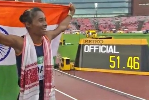 Hima Das created History with 51.46