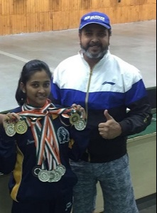 Mehuil ghosh bagged 11 medals overall, 8 of which were gold and 3 bronze all at the National Championships.