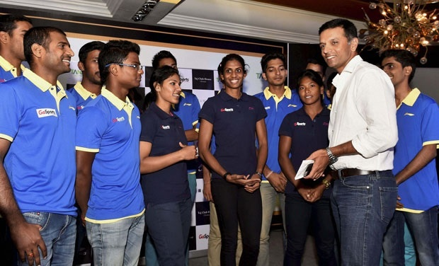 Heptathlon Queen into the Rahul Dravid Athlete Mentoring Program.