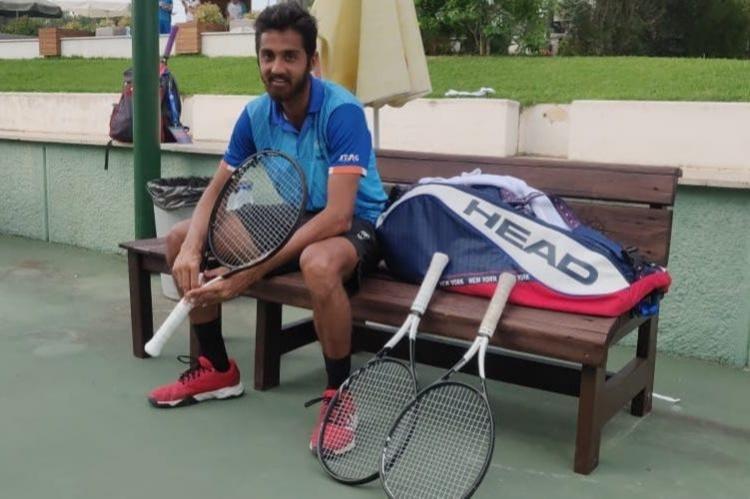Outstanding tennis player Pritvi Shekar
