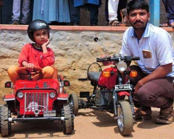 Mini Jeep and a Bike by Arun Kumar Purushothaman