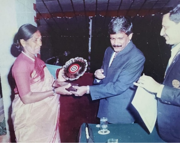 Poovi was awarded the Dasara Award and the Rotary Excellence award for her contribution to Indian Sports
