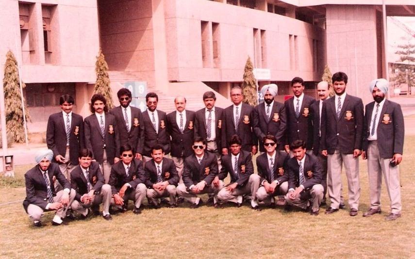Mollera poovaiah Ganesh at 1988 World cup at Seoul as a coach.