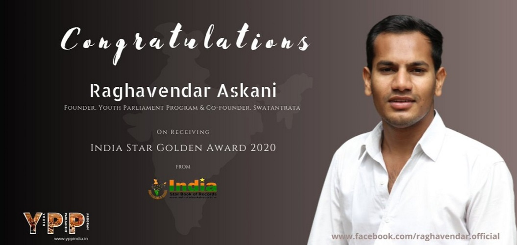 Askani Raghavendar Awarded India Star Golden Award 2020.jpg