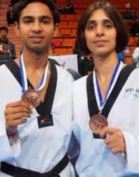 Kashish malik FIRST ever Bronze home in the 5th Fujairah International Open Taekwondo Championship in 2017