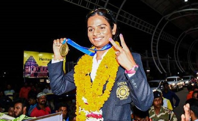 Dutee Chand The National record holder in women's 100m scripted history in 2019 at the World Universiade in Naples