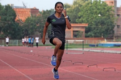 Dutee Chand strained her focus to set records in 2020 Olympics and started to train in Hyderabad.