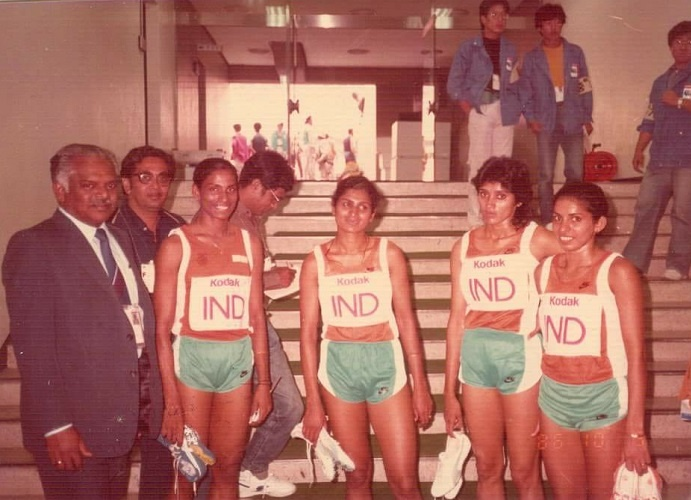 P.T. Usha, Shiny Wilson, M.D. Valsamma trained with her