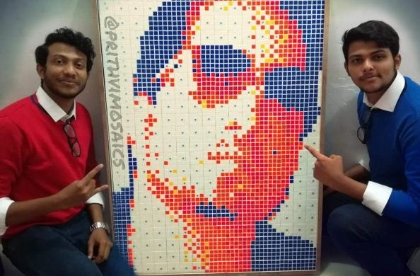 Prithveesh k bhat Rubik's Cube Mosaic Art