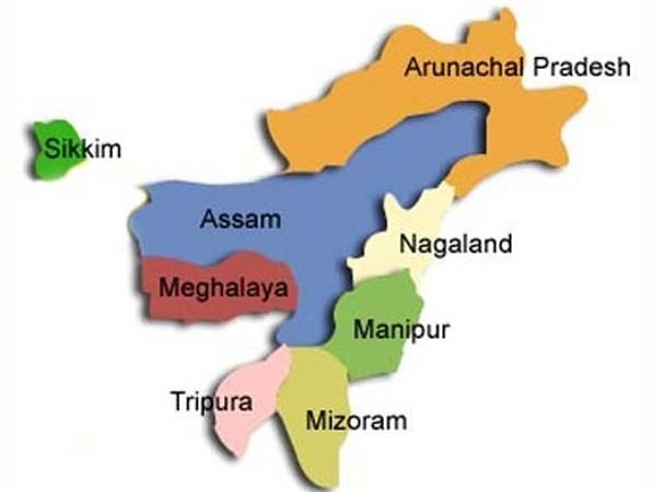 Seven Sister States in North-eastern India