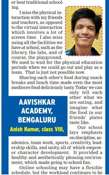 Anish has been contributing his thoughts to the Times of India 2