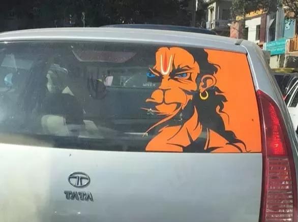 Rudra Hanuman portrait  on cabs