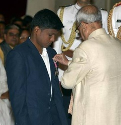 The Indian Government declared the Padma Shri 2017 to Mariyappan