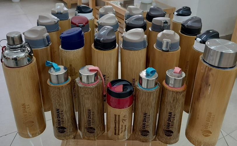 Handcrafted leak-proof Bamboo Bottles