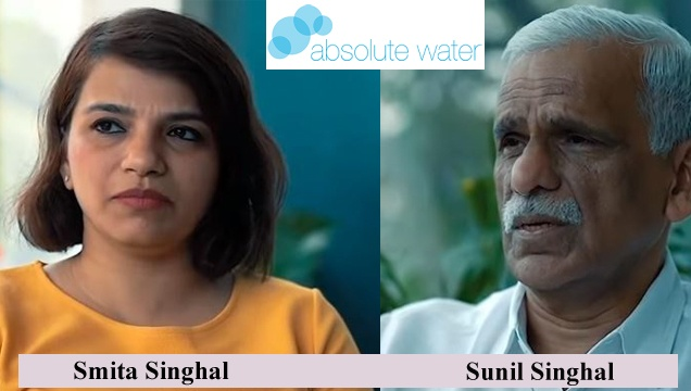 Smita singhal and Sunil Singhal founders of Absolute Water