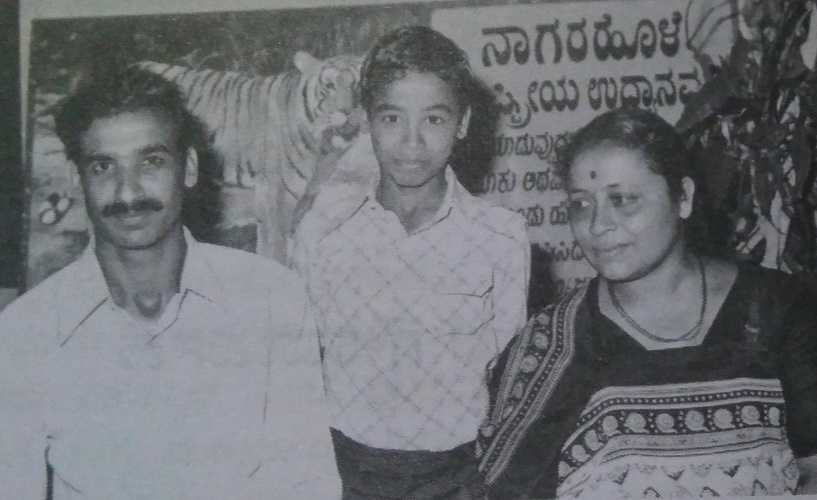 Chinnappa with his Family Radha and Manu