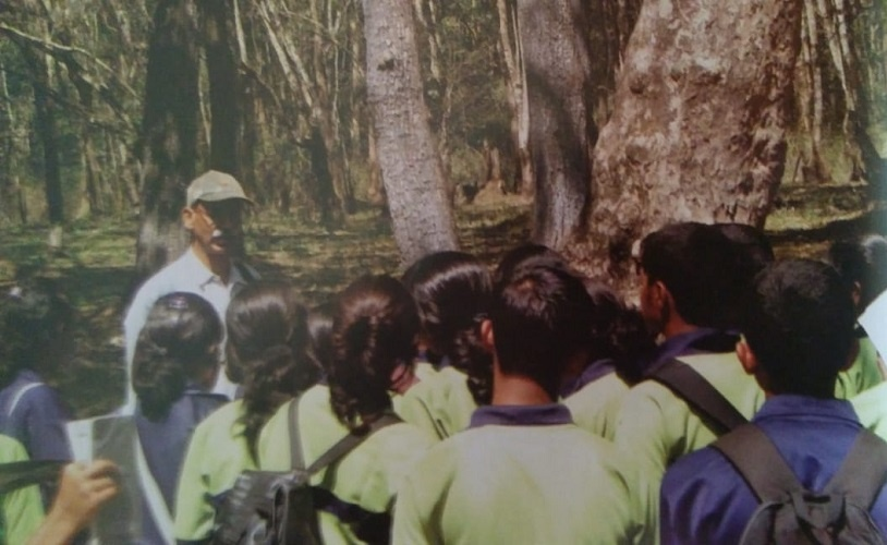 Chinnappa educated children, teachers, youth and the general public about the environment