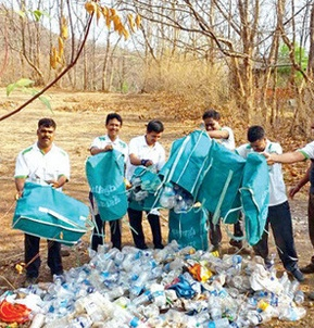 Rudra recycled around 22 tonnes of plastic from close to 15,000 households in Pune