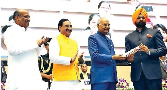 Amarjith Singh received the honor from the President of India, Shri. Ram Nath Kovind