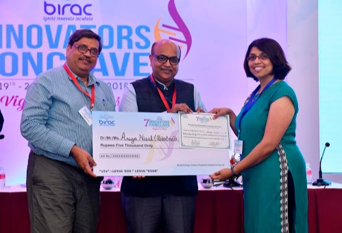 INAE's Young Entrepreneur Award was conferred on Anuya Nisal for the year 2020