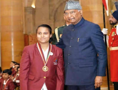 Aarushi manages to receive the Baal Shakti Puraskar award 2020