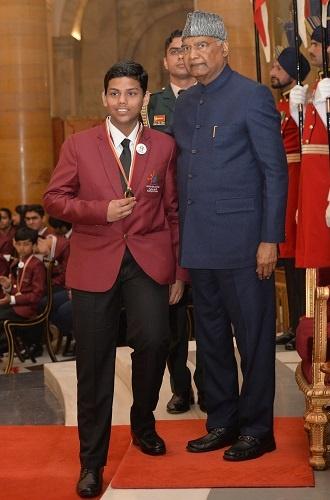 Vinayak Bahadur  Granted the Bal Shakti Puraskar 2020