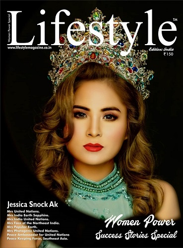 Jessica Snock Ak highlighted on the cover page of 'Lifestyle' magazine