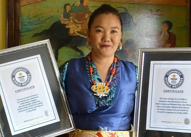 Lhakpa-Sherpa win guinness world record