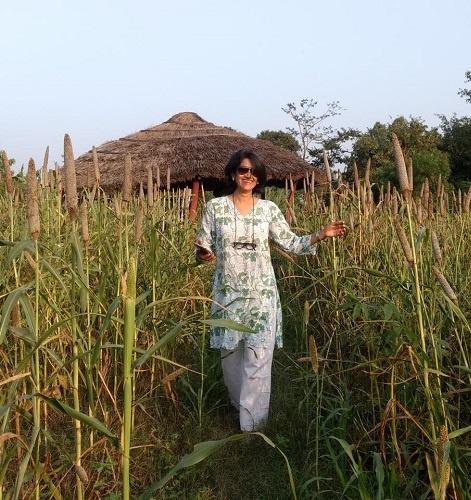Manisha Lath Gupta at her farm