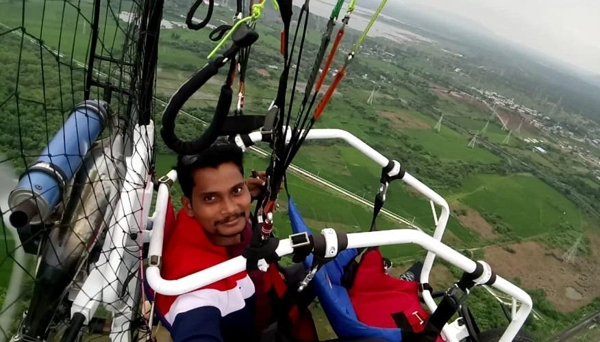 Self-made Paraglider by  Adepu Arjun