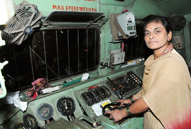 Surekha Yadav drove the Deccan Queen from Pune to CST Mumbai in the Year 2011