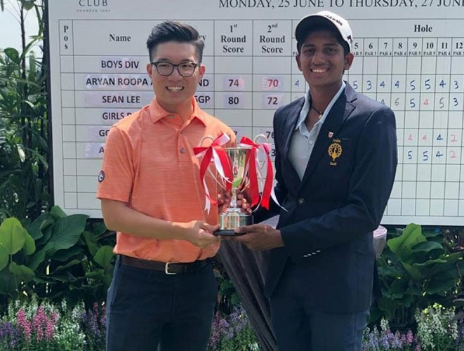 1st in Singapore Junior Golf Championship