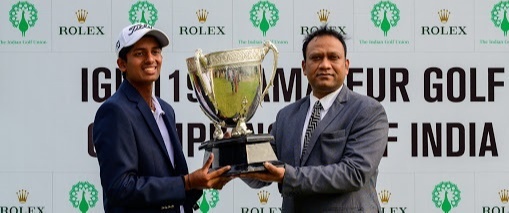 Aryan earns the All India Amateur Golf Championship
