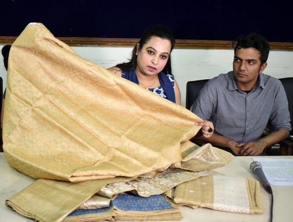 The Balipara Foundation producing garments like shawls and sarees made of Muga (golden thread) silk found in Assam