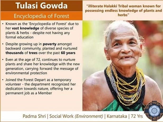 The government of India honoured her with Padma Shri on 26 january 2020