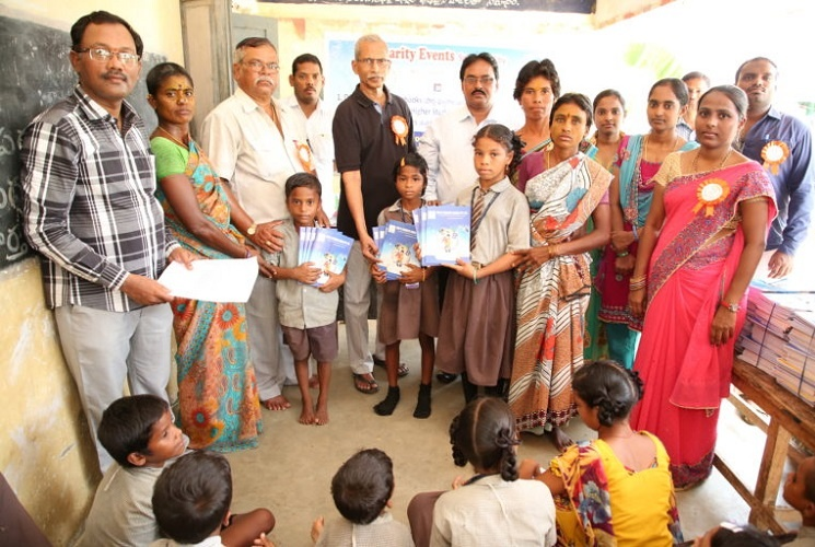 The intention of the label Books and bookcase was to configure book galleries in the various government schools in rural Andhra Pradesh
