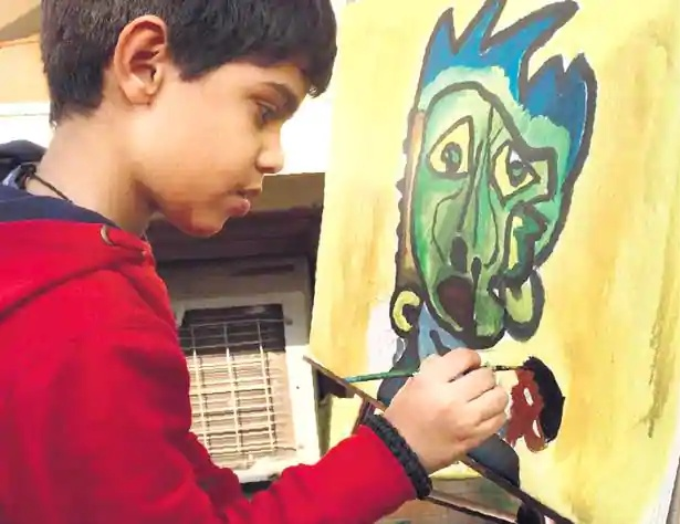 It is one of my best artworks because whenever I see it, I realize how creative I am, says Aarav