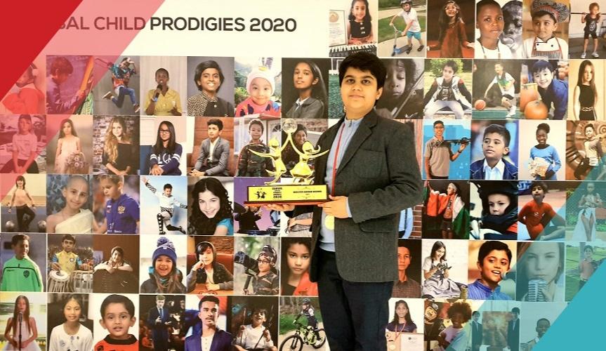Aarav Verma received the Global Child Prodigy Award
