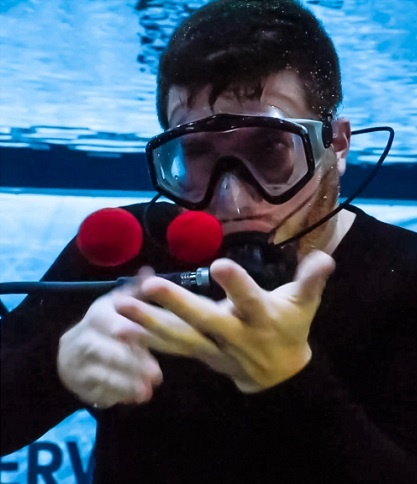 Martin set his fifth Guinness World Record recently for performing the most tricks underwater in a span of three minutes