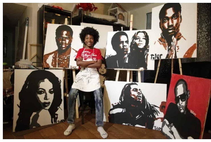By the age of 10, he already painted the portraits of more than 60 celebrities