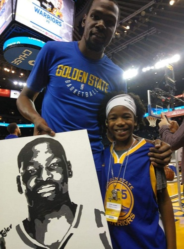 Kevin Durant's mother contacted Tyler and offered him to buy one of his paintings for $100