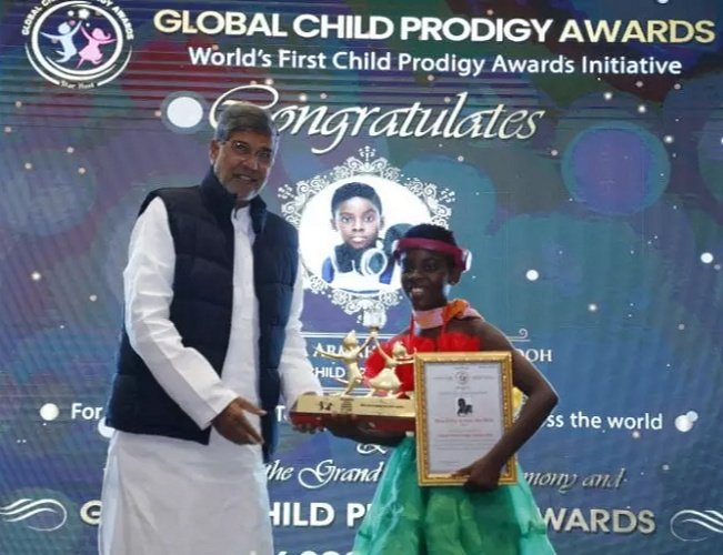 Erica bagged the Global child Prodigy Award in the DJ category