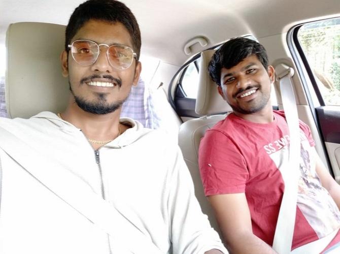 Chendrakanth Along with his Director of Photography, Vishnu Reddy