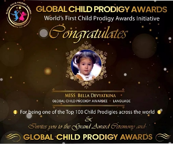 Bella was lauded with the Global Child Prodigy award in January 2020 for her exceptional linguistic ability
