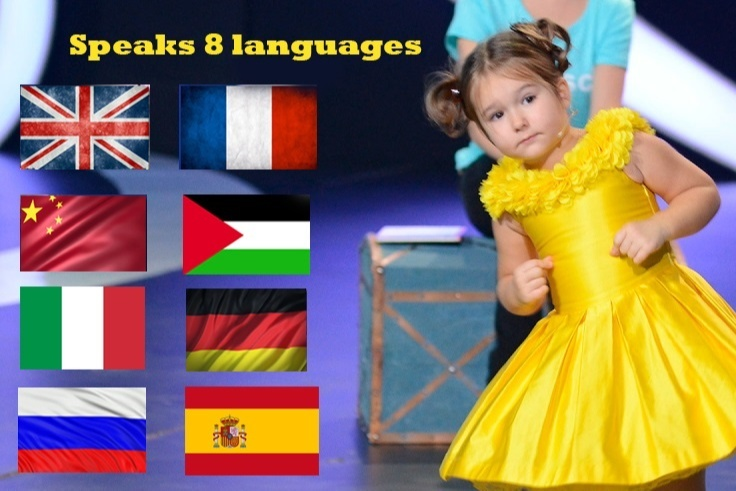 Bella Devyatkina started speaking English, French, Mandarin, Arabic, Italian, German, Mandarin Chinese, and Russian with ease by the age of 4 and left everyone dumbfounded