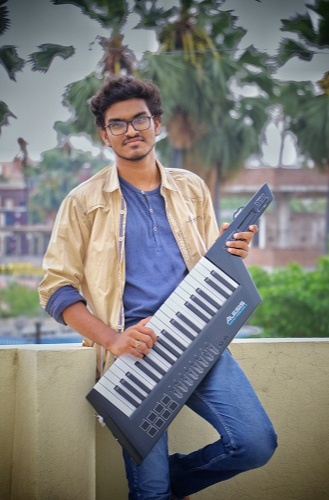 His grandmother's gift - keytar,helped him in producing new music and he started learning the A to Z in music production since 19th Feb 2020