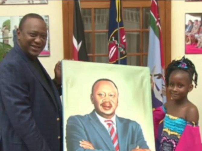 The portrait of Kenyan President went viral on the internet